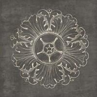 Rosette VI Gray Fine-Art Print