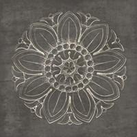 Rosette VII Gray Fine-Art Print