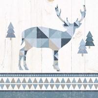 Nordic Geo Lodge Deer I Fine-Art Print