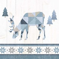 Nordic Geo Lodge Deer II Fine-Art Print