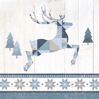 Nordic Geo Lodge Deer III Fine-Art Print