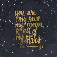 Starry Words III Gold Fine-Art Print