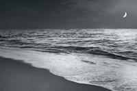 Moonrise Beach Black and White Fine-Art Print
