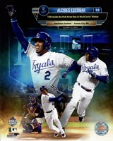 Alcides Escobar 12th Inside-the-park Home Run in world Series History Composite Fine-Art Print
