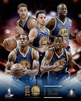 Golden State Warriors 2015-16 Team Composite Fine-Art Print