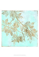 Aqua & Gold Maple I Fine-Art Print