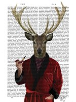 Deer in Smoking Jacket Fine-Art Print