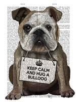 Hug a Bulldog Fine-Art Print