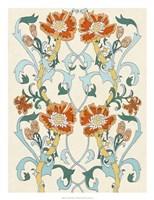 Nouveau Floral Pattern I Fine-Art Print