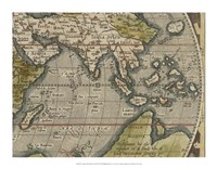 Antique World Map Grid VI Fine-Art Print