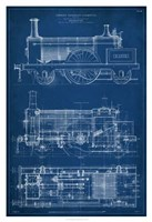 Locomotive Blueprint I Fine-Art Print