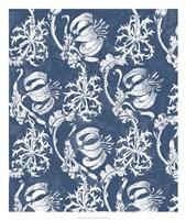 Indigo Floral Chintz I Fine-Art Print