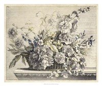 Vintage Basket of Flowers II Fine-Art Print