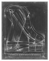Grand Piano Diagram Fine-Art Print