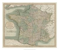 Vintage Map of France Fine-Art Print