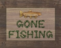 Gone Fishing Sign Fine-Art Print