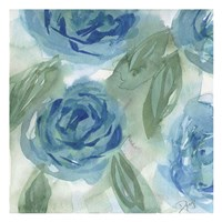 Blue Green Roses I Fine-Art Print