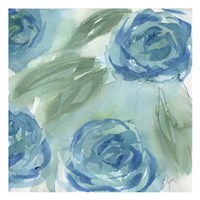 Blue Green Roses II Fine-Art Print