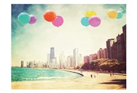 Chicago Balloons Over the City Fine-Art Print