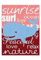 Beach Whale Fine-Art Print