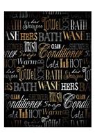 Bath Typography Gold Fine-Art Print