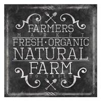 Farmers Market Chalkboard Fine-Art Print