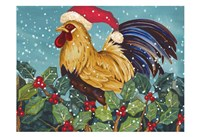 Mr Christmas Rooster Fine-Art Print