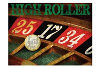 High Roller Casino Grunge 1 Fine-Art Print