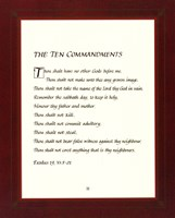 Ten Commandments - red frame Fine-Art Print