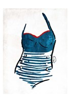 Vintage Swimsuit One Fine-Art Print