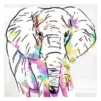Elephant Head Colorful Fine-Art Print