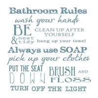 Bathroom Rules White Fine-Art Print