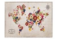 Floral Map Fine-Art Print