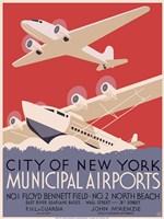 New York City municipal airports, 1937 Fine-Art Print