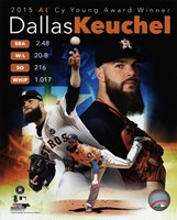 Dallas Keuchel 2015 American League Cy Young Winner Portrait Plus Fine-Art Print