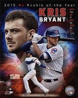 Kris Bryant 2015 National League Rookie of the Year Portrait Plus Fine-Art Print