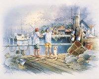 Fishing Dock A Fine-Art Print