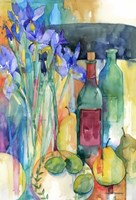 Table Scape With Irises Fine-Art Print