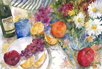 Fabric, Fruit And Flowers Fine-Art Print