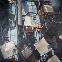 Shadows at the Zurich Cafe Fine-Art Print