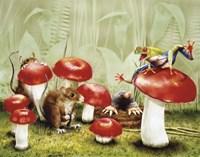 Mushroom Meeting Fine-Art Print