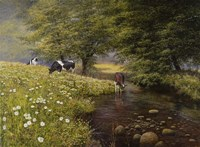 Cattle By The Stream Fine-Art Print