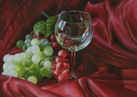 Red Satin and Grapes Fine-Art Print