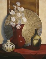 Still Life with Red Vase Fine-Art Print