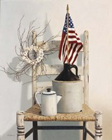 Chair With Jug And Flag Fine-Art Print