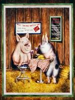 Wine, Dine & Swine Fine-Art Print
