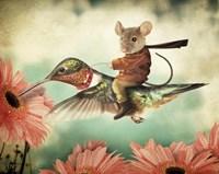 Catching A Ride On A Hummingbird's Back Fine-Art Print