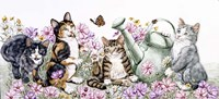 Flower Cats Fine-Art Print