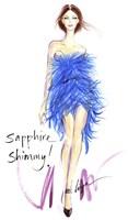 Sapphire Shimmy Fine-Art Print
