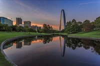 Gateway Arch Reflection Sunset Fine-Art Print
